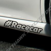 #Racecar Bumper Sticker Vinyl Decal Drift JDM Hashtag Race Car Window Sticker