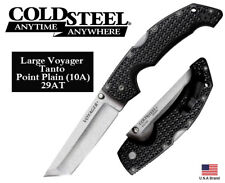 """Cold Steel 5.25"""" Folding Knife Large Voyager Tanto AUS10A Steel TRI-AD Lock 29AT"""