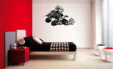 QUAD ATV MX MOTOCROSS MOTORCYCLE DECAL WALL VINYL BOYS STICKER ROOM STICKY