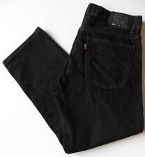 Boys' Men's Levis 505 Straight Leg Jeans W32 L26 Black Levi Strauss Size 32S