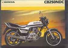 1982 HONDA CB250NDC 2 Page Motorcycle Brochure NCS