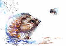 Hedgehog ,Sale,Original ,Watercolour ,Print ,Card, Gift, Wildlife,Animal,Art,