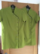WOMANS HAIRDRESSING TUNICS X 2 size 12 Lime Green, Simon Jersey
