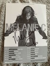 Rare Melanie C (Spice Girls) A5 2003 Tour Flyer Signed