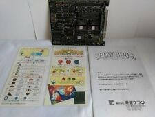 TOAPLAN Snow Bros. Arcade System JAMMA PCB Board and Inst Card set/tested-A-