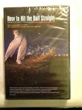 How To Hit the Ball Straight DVD Home Study Program GOLF Retail $97