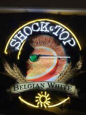 "New Shock top Belgian White Bar Beer Lamp Neon Light Sign 20""x16"""