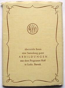 MÖBEL 18 alte Postkarten PROGRAMM HOFF Lothringer Barock, REKLAME-AK ca. 1950/70