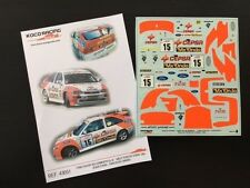 DECAL 1:43 FORD ESCORT RS COSWORTH#15 J.PURAS/C.DEL BARRIO-RALLY TOUR CORSE 1994