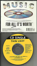 THIN LIZZY Boys Are back / Jailbreak Made in CANADA LIMITED  CD single 1997 MINT