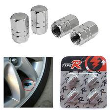 4X Plata Coche Moto Bike Aluminio neumático rueda vástago válvula de aire Cubierta de Polvo Tapas