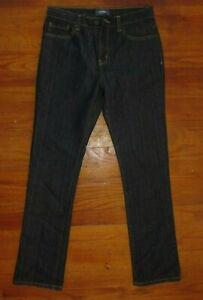 Old Navy Boys Jeans Size 16 Regular Adjustable Waistband Skinny Dark Speck Rinse