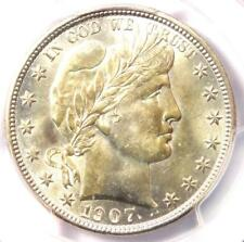 1907-D Barber Half Dollar 50C - PCGS Uncirculated Details (MS UNC) - Nice Luster