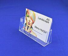 2 X A5 Landscape Leaflet / Brochure / Menu Holder Free-Standing - CLA5