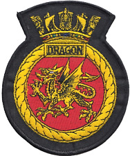 HMS Dragon Royal Navy RN Surface Fleet Crest MOD Embroidered Patch