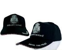 1 X Collectible Thai Royal Police Cap Souvenirs Thailand Black Hat Gift  NEW