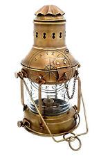 "Antique Vintage Brass Ship Anchor Boat Lantern 12"" Maritime Rail Road Oil Lamps"