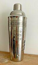 ART Deco Style Chrome Ricetta Shaker misure imperiale