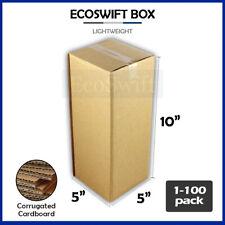 1 100 5x5x10 Ecoswift Cardboard Packing Mailing Shipping Corrugated Box Cartons