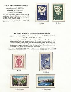 Australia 1956 Olympic Games set of 6 Stamps MUH (107420)