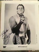 BRUTUS THE BARBER BEEFCAKE SIGNED 8X10 PHOTO WWE VINTAGE 80s WRESTLING