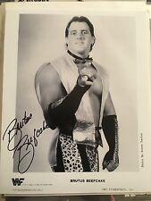 Brutus Beefcake Signed 8x10 Photo Wwe Vintage 80s Wrestling
