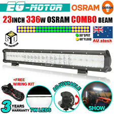 "23"" 336W OSRAM 5D LED WORK LIGHT BAR SPOT FLOOD COMBO OFFROAD LAMP 4X4 ATV 4WD"