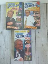 3 x Jerry Springer bundle Bad Boys and Naughty Girls uncensored VHS Out of Print