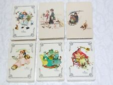 New Sealed Norman Rockwell Playing Cards Summer Spring Fall Winter Victorian Dog