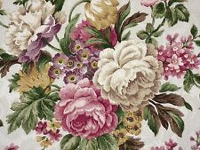 Mill Creek Floral CHAMPAGNE Rose Green Home Decor Drapery Sewing Fabric BTY