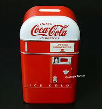 New Listing Coca Cola Vending Machine Piggy Bank Red Coke Tin Metal Box Collectible Gift