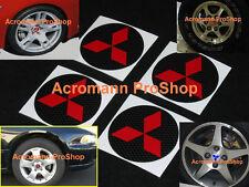 "4x 2.2"" 5.5cm 55mm Mitsubishi Cap decal sticker diamond center wheel Eclipse EVO"