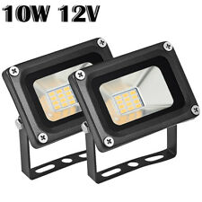 2X 10W 12V LED Flood Light Warm White Outdoor Garden Yard Spot Lamp Waterproof