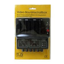 Video Boy-Umschaltbox Scart und Audio Verteiler 4 Scart Buchsen 2 Chinch Buchsen