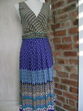 MONSOON Sz 14-16 Midi Dress Purple Beaded Sequin detail Sleeveless with Stretch