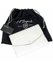 New S.T. Dupont White Leather A5 Cover and Notebook 092202 Retail:$270.00 NR