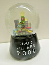 "2000 Time Square Nyc Musical Snow Dome Globe Plays ""Old Lang Syne"" Rotates"