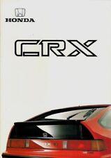 Honda Civic CRX 1.6i-16 1987-88 UK Market Sales Brochure
