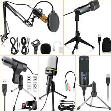 Pro Studio Recording Microphone-Cardioid Condenser Mic w/ Stand For Game Chat
