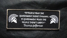 MOLON LABE SPARTAN TYRANNY LIBERTY 2RD AMENTMENT MILITIA MORALE HOOK PATCH