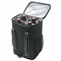 Wine Case Cooler Insulated Carrying Tote Bag 4 Bottle Wine Carrier Travel Picnic