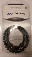 NEW Phiten Tornado Titanium Necklace Black/Green - 18 Inch