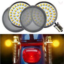"Eagle Lights 2"" Harley LED Rear Amber Turn Signals w/ Smoked Lenses 1156 Base"