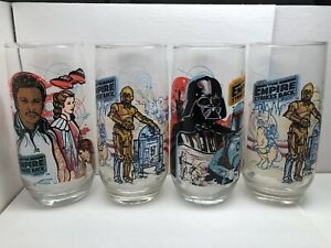 Star Wars, 1980 The Empire Strikes Back Burger King, Coca Cola glasses, set of 4