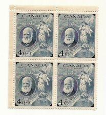 1947 CANADA Alexander Graham Bell postage stamp block B MNH
