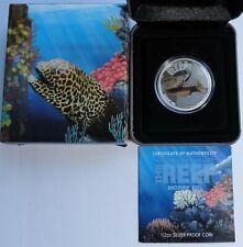 2010 Australia 50 cents Australian See Life the Reef Moray Eel 1/2oz .999 silver