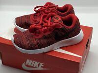 Nike Tanjun PS University Red Black White Shoes Childrens Size 10.5C 818382 602