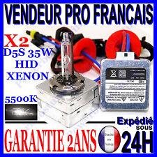 2 AMPOULE D5S au XENON 35W LAMPE FEU PHARE POUR KIT HID en 5500K  o