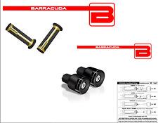 BARRACUDA Handgriffe Oro+Gegengewichte b-lux Schwarze für alle Harley Motorrad
