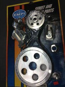 Serpentine Belt Pulley Kit VW Type 1 Bug, Bus, Ghia pedal covers, window cranks